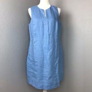 J. Jill Love Linen Blue 100% Linen Shift Dress